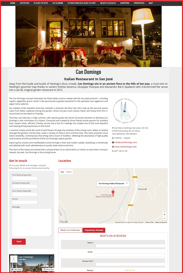 Sales Page Example when Advertise with us What's on in Dumfries.com